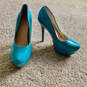 Jessica Simpson women size 6 Blue Pumps